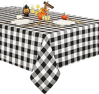 رومیزی بوفالو شطرنجی 56 * 84 اینچ رومیزی شطرنجی سیاه و سفید رومیزی روکش میز مزرعه برای مهمانی هالووین تزیین میز شام شکرگزاری پاییز