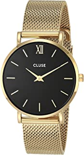 CLUSE Women's Quartz Watch with Stainless Steel Strap, Gold, 16 (Model: CW0101203017)