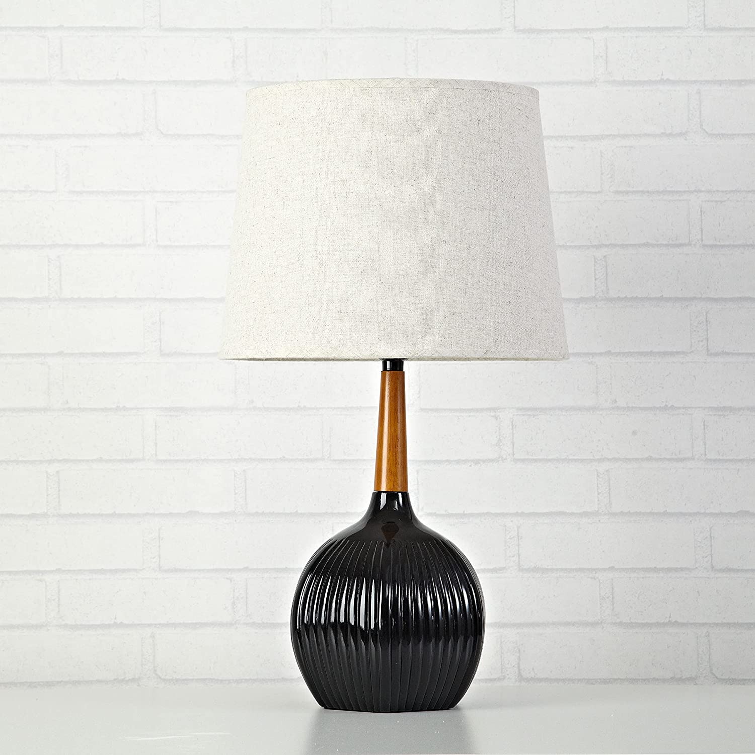 Urban Shop Ribbed Outlet ☆ Free Cheap SALE Start Shipping Wooden Lamp Multicolor Table