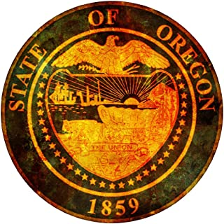 Oval vintage seal oregon 4x4 inches sticker decal die cut vinyl - Made and Shipped in USA