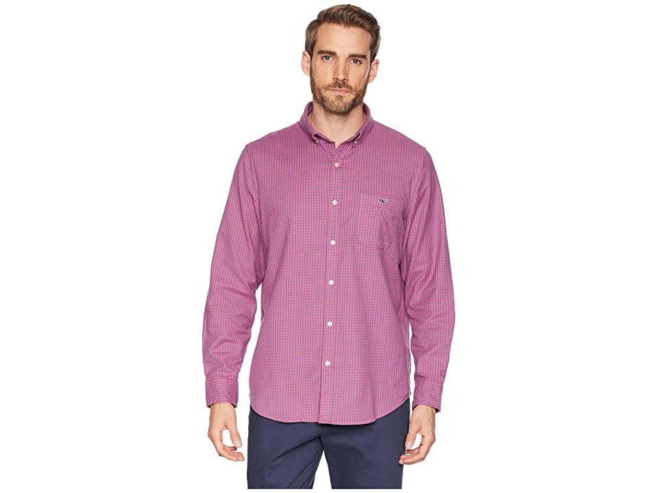 Vineyard Vines Tradewinds Flannel Slim Tucker Shirt (Sailors Red) Men