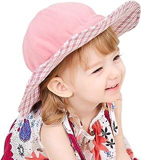 GZMM Baby Girls Reversible Wide Brim Sun Protection Hat