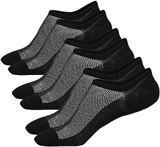 Ueither, Calcetines de hombre antideslizantes de algodón de corte bajo