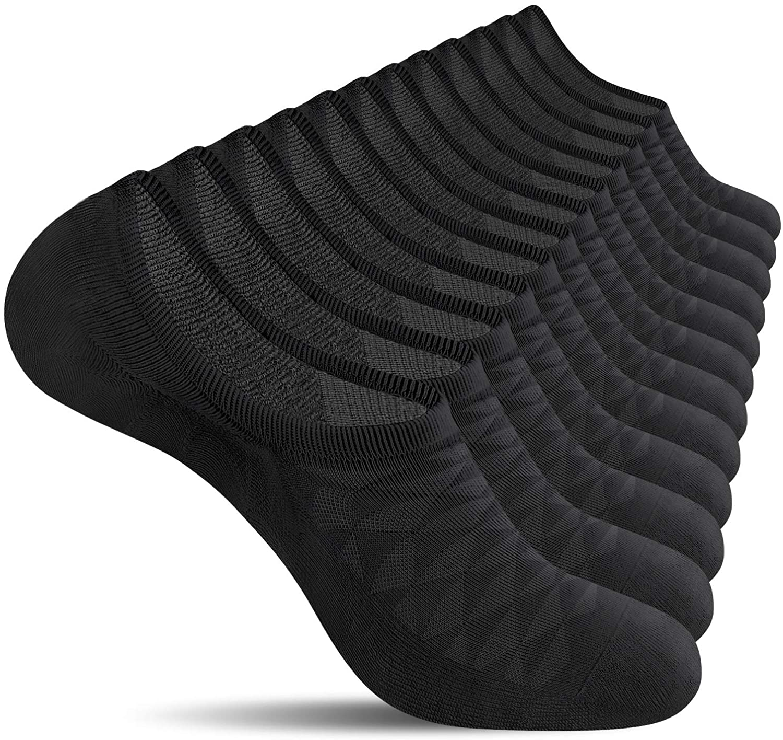 CS CELERSPORT 6 Pairs No Show Socks Mens Low Cut Non Slip Invisible Casual Liner Socks for Men
