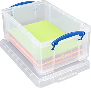 Really Useful 9 Litre Plastic Storage Box - Clear, Frustration-Free Packaging