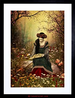 Wee Blue Coo The Art Stop Painting Fantasy Woman Reading Forest Fairytale Framed Print F97X8003