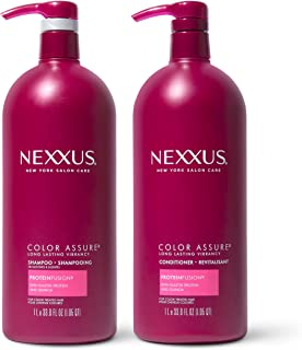 Nexxus Shampoo and Conditioner for Color Treated Hair, Color Assure, 33.8 oz, 2 count