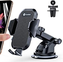 Andobil Car Phone Mount Easy Clamp, Ultimate Hands-Free Phone Holder for Car Dashboard Air Vent Windshield, Super Suction ...