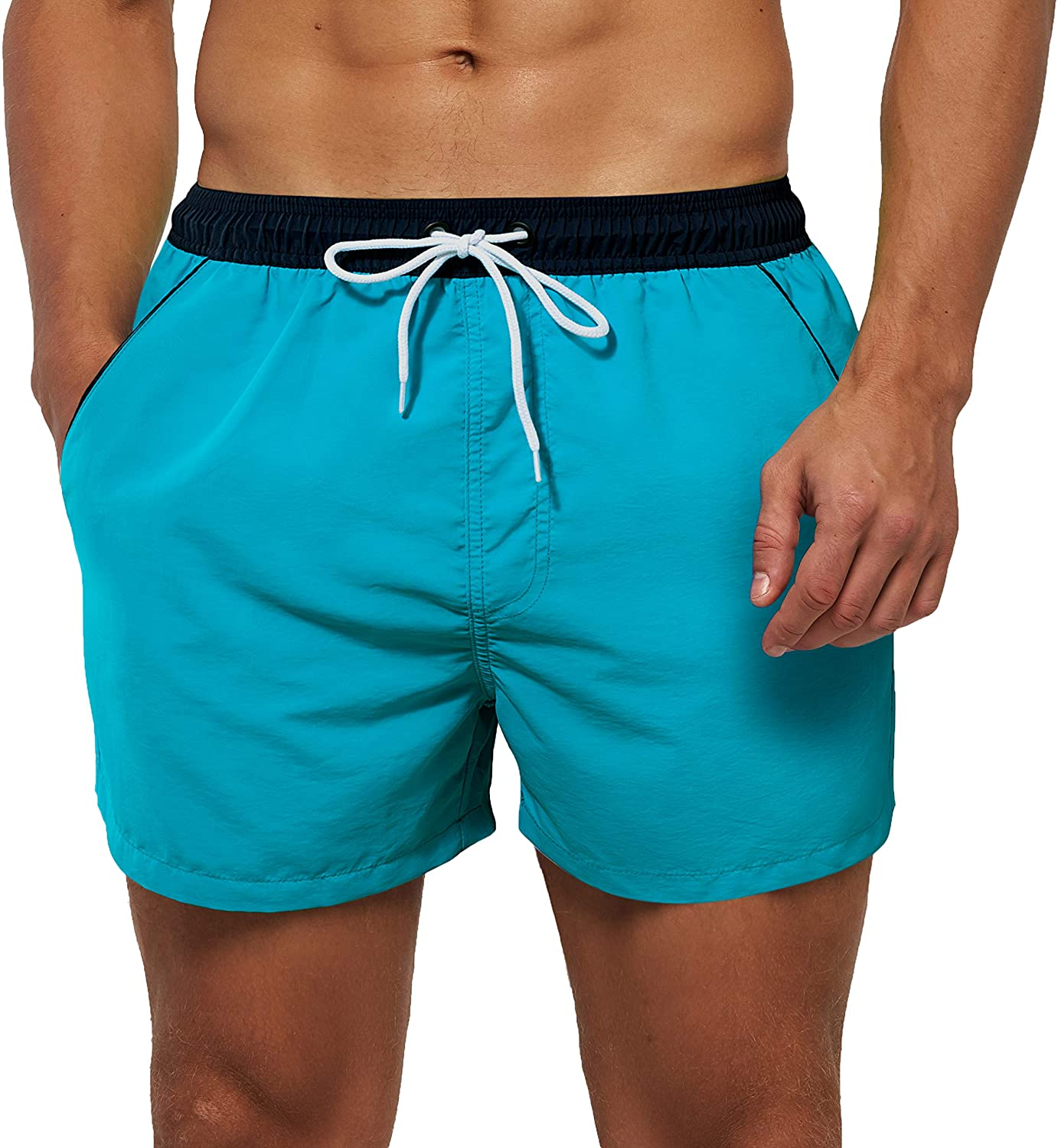 SILKWORLD Men's Quick Dry Swim Swimsuit Shor Sports Solid Max 82% OFF Trunks excellence