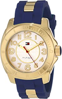 Tommy Hilfiger Women s 1781307 Casual Sport Gold-Plated Case and Links with  Silicone Strap Watch bb31d0e1843