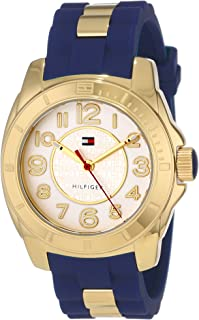 Tommy Hilfiger Women's White Dial Rubber Band Watch - 1781307