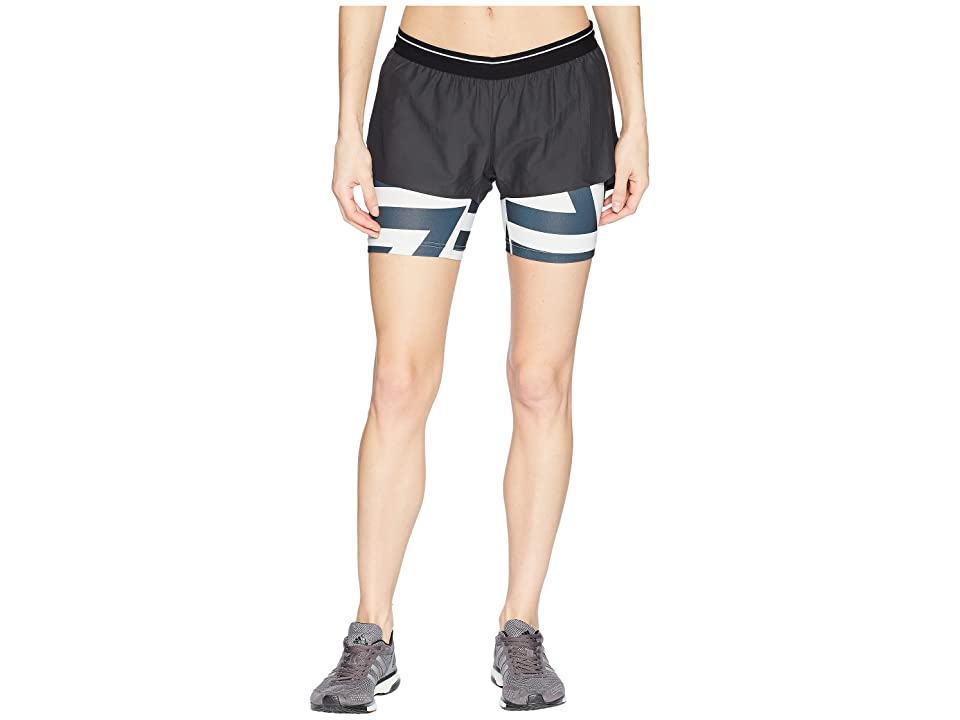 Image of adidas Outdoor Agravic 2-in-1 Parley Shorts (Black) Women's Shorts