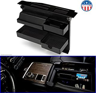 Salient Center Console Organizer for FORD Trucks and SUVs - Compatible with Select Ford F150 (2015-2020), F250, F350, Raptor (2017-2020), Expedition (2018-2020) -compatible ONLY with bucket seats