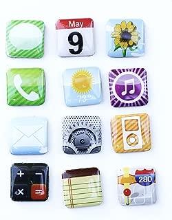 Iphone App Fridge Magnets 12ct