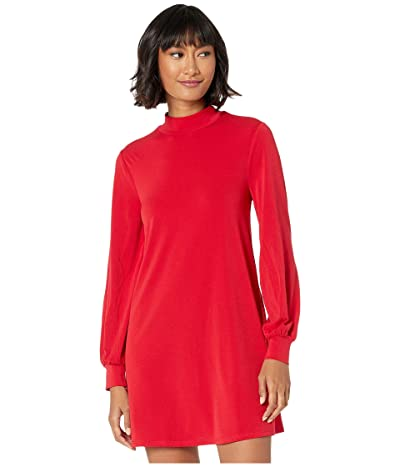 BCBGeneration Day Mock Neck Dress XYE65P56 (Ruby Red) Women