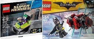 Lego Super Heroes DC Comics Batman in The Phantom Zone (30522) + The Joker Bumper Car (30303) Lego Joker Mini Figure with Pie & mini Batman Figure DC Universe