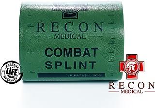 Combat Splint- (Olive Green) Recon Medical Combat Splint 36 اینچ کارت ثبت تاکتیکی پزشکی کمک های اولیه قابل استفاده مجدد با وزن سبک! (1 بسته) (ROLL 4.25x3)
