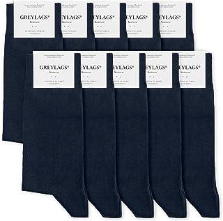 Greylags, Prima Calcetines Algodón Peinado Costuras Cosidas a Mano Cómodo Business Calcetines | Hombres y mujeres | 80% Algodón | Certificado Oeko-Tex Standard 100