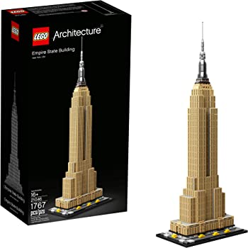 LEGO Architecture Empire State Building 21046 New York City Skyline Architecture Model Kit for Adults and Kids, Build It Yourself Model Skyscraper (1767 Pieces)
