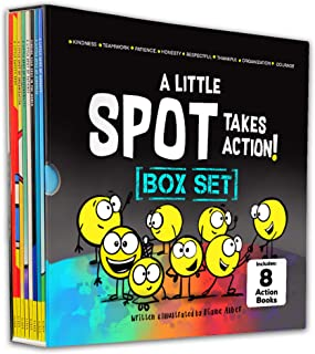 A Little SPOT Takes Action! 8 Book Box Set (Books 9-16: Kindness, Responsibility, Patience, Respect, Honesty, Organizatio...