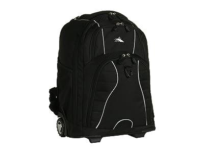 High Sierra Freewheel Wheeled Backpack (Black) Backpack Bags
