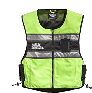 Harley-Davidson Men's Hi-Vis Vest, Yellow