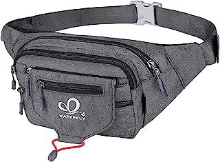 WATERFLY Fanny Pack Waist Bag: Woman Man Runner Bumbag Hip Pouch Bum Bag Running Belt Purse Fannie Pack Beltbag Waistpack ...