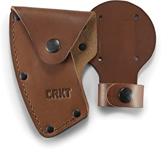 CRKT Freyr Axe Sheath: Full Grained Leather, Multiple Snaps, Belt Loops for Secure Carry of Axe, for Use with CRKT 2746 D2746