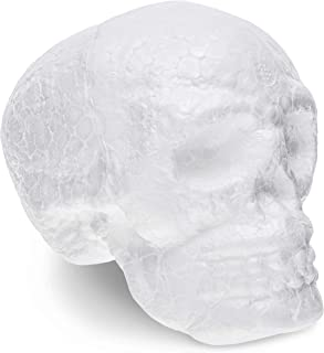 Juvale Foam Skulls 6-Pack for Day of The Dead, Halloween Arts and Crafts (Polystyrene, 4 Inches)