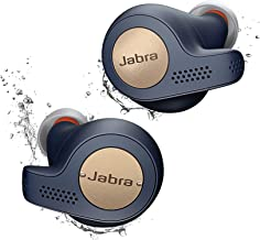 Jabra Elite Active 65t Alexa Enabled True Wireless Sports Earbuds with Charging Case (Renewed) (Navy)