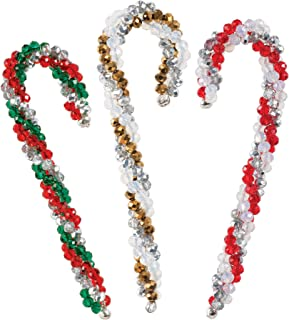 Solid Oak NC007 Crystal Candy Canes Ornament Kit, Multi