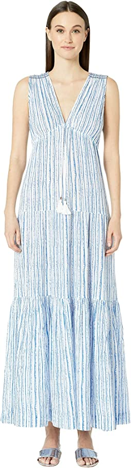 Siena Smocked Shoulder Maxi Kaftan