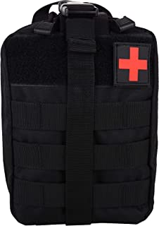 Wolfteeth Tactical Molle Pouch Medical Utility Bag Trifold Camping First Aid Kits (Pouch Only) 7482