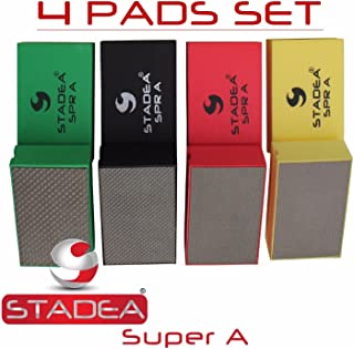 Stadea HPW107K Diamond Hand Polishing Pads - Glass Marble Concrete Stone Hand Polishing, 4 Pads Set