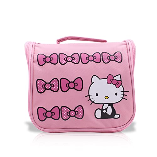 fc0c76d7f4 Finex Pink Hello Kitty Toiletry Shower Bag with Hanging Hook Cosmetic Make  up Organizer Bag for