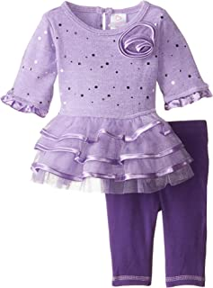 Baby Girls' Sparkle Brushed Sweater Tiered Dress and Legging