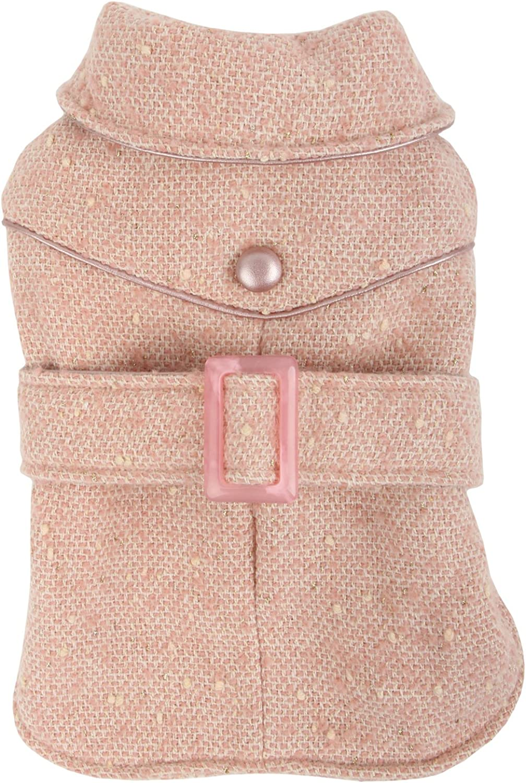 Puppia Popette Winter Dog Coat, Small, Pink