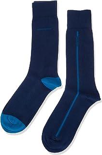 BOSS Men's 2p Rs Logo Stripe Cc Calf Socks