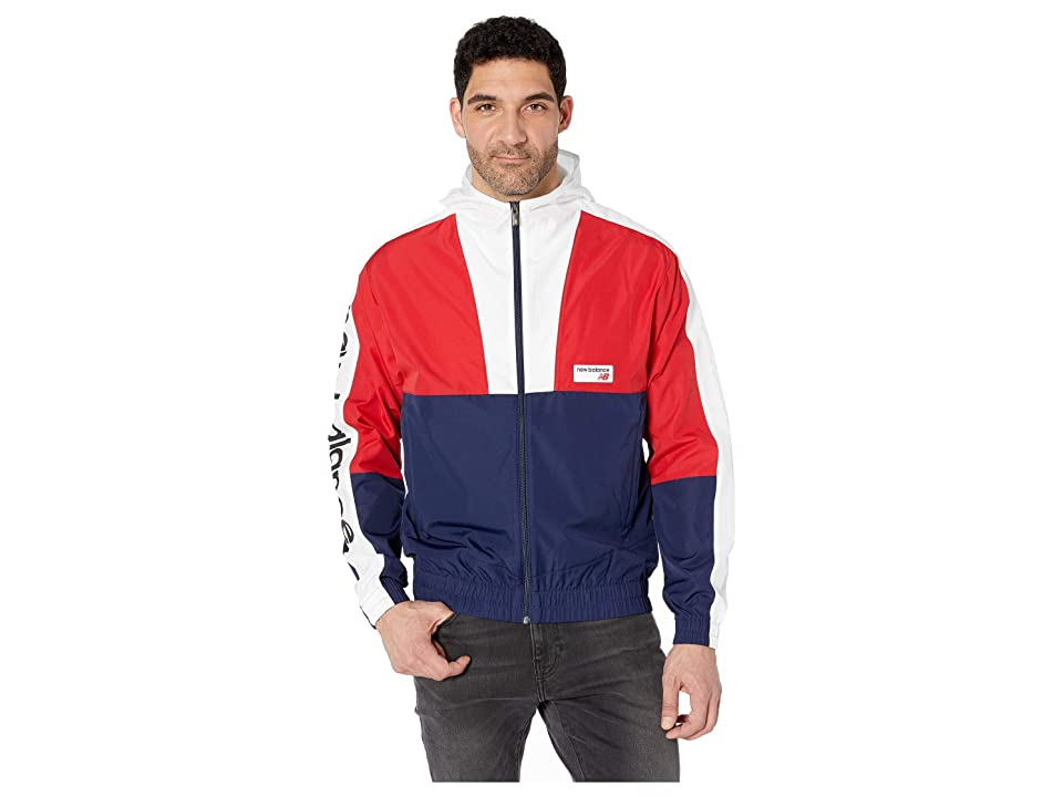 New Balance Athletics Windbreaker (Team Red Inline/Pigment/White) Men