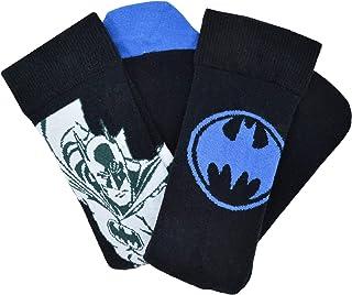 u-wear, Batman Dc Comics Licencia Oficial Azul Calcetines Pack Doble Ru 7-11