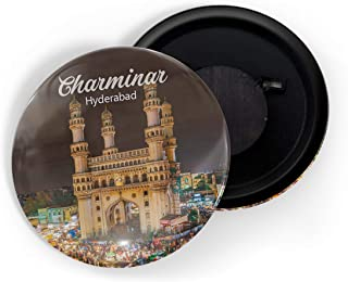dhcrafts Fridge Magnet Multicolour Places Charminar Hyderabad D2 Glossy Finish Design Pack of 1