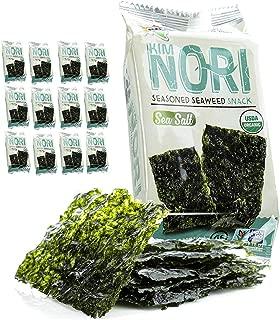 Kimnori Seasoned Organic Seaweed Snack (Sea Salt 12 Pack)