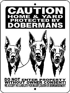 DOBERMAN PINSCHER ALUMINUM DOG SIGN