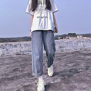 Boyfriend Jeans Women Summer Denim Solid High Waist Loose Casual Straight Korean Streetwear Lady Trouser Vintage Harem Lon...