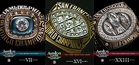 America's Game - The Super Bowl Champions - 1972 Miami Dolphins, 1981 & 1988 San Francisco 49ers 3-DVD Bundle