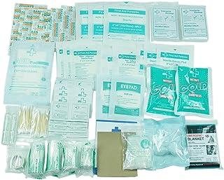 160 قطعه کیت کمکهای اولیه برای اولین بار کیت کمک - شامل لیوان ، سرما فوری ، بانداژ ، پتو اضطراری ، پد مولکین ، گاز - لوازم اضافی پزشکی جایگزین اضافی برای اولین بار