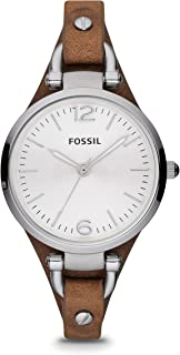 Women's Georgia Quartz Stainless Steel and Leather Casual Watch