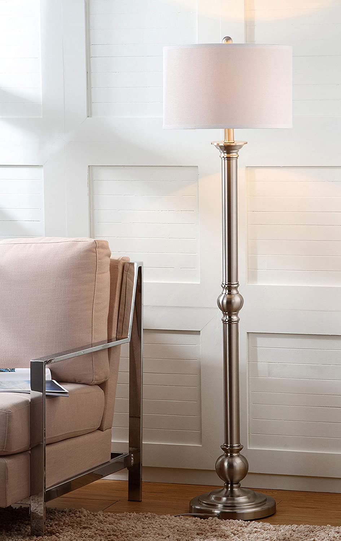 Safavieh Lighting Collection Theo 1 year warranty 60-inch Industry No. 1 Lamp Nickel Floor