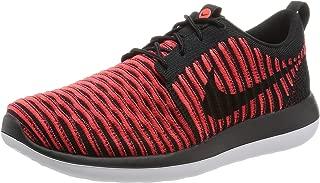 Men Roshe Two Flyknit (black / black-bright crimson-white) Size 11 US