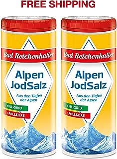 Iodized Table Salt with Fluoride 2 x 125 g, Bad Reichenhaller/Germany